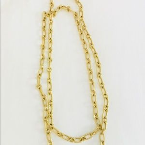 J. crew gold tone link necklace